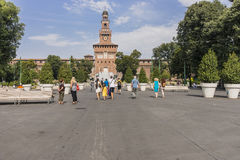 Sforza Schloss in Mailand, Italien Lizenzfreie Stockfotos