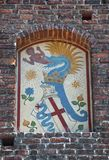 Sforza-Schlossdetail Lizenzfreies Stockbild