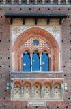 Sforza-Schlossfenster Stockbilder