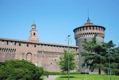 Sforza-Schlossturm Lizenzfreies Stockfoto