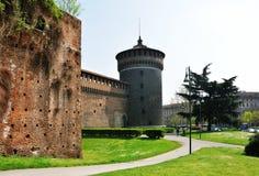 Sforza-Schlossturm Lizenzfreies Stockbild