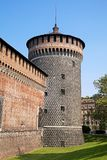 Sforza-Schlossturm, Mailand Stockbilder