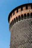 Sforza slott i Milan Italy - Castello Sforzesco royaltyfri foto
