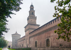 The Sforzas Castle in Milan Stock Photos