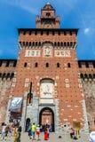 Sforzas Schloss in Mailand Lizenzfreies Stockbild