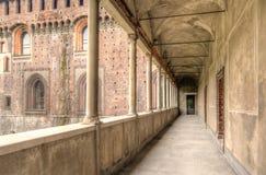 Sforzesco城堡细节  库存图片