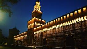 Sforzesco Μιλάνο Castello Στοκ φωτογραφία με δικαίωμα ελεύθερης χρήσης