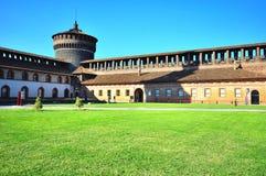 Sforzesco castel, Milaan, Italië Royalty-vrije Stock Foto