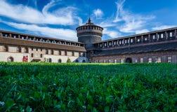 Sforzesco Castello в милане Стоковое Изображение RF