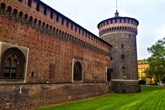 Sforzesco Castello in Milan, Italy Royalty Free Stock Photo
