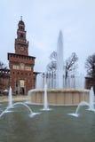 Sforzesco castle Stock Photo