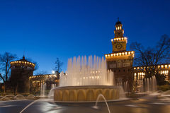 Sforzesco castle in Milan Royalty Free Stock Images