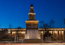 Sforzesco castle in Milan Stock Images