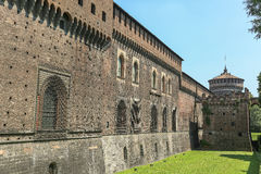 Sforzesco castle, Milan stock photos