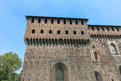 Sforzesco castle, Milan stock photo