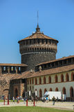 Sforzesco castle, Milan stock photography