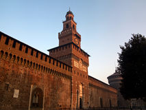 Sforzesco Castle in Milan Royalty Free Stock Photos