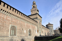 Sforzesco Castle in Milan Royalty Free Stock Image
