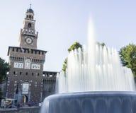 Sforzesco castle in Milan, Italy Royalty Free Stock Photos