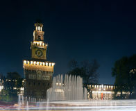 Sforzesco castle in Milan, Italy Royalty Free Stock Images
