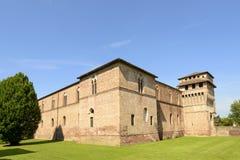 Sforzesco Castle south west view, Pandino Stock Photo