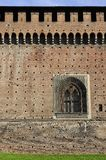 Sforzesco castle wall and window, milan Royalty Free Stock Images