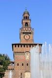 Sforzesco de Castello, Milão Foto de Stock