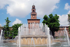 sforzesco de sforza de Milan de château de castello Image libre de droits