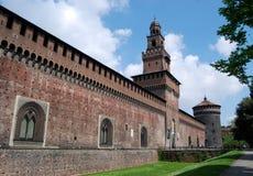 sforzesco de sforza de Milan de château de castello photo stock