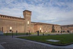Sforzesco di castello di Milano fotografia stock libera da diritti