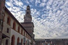 Sforzesco di castello di Milano immagine stock