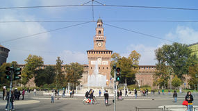 Sforzesco di Castello a Milano Fotografie Stock