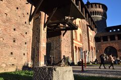 Sforzesco-Schloss - Mailand Stockfoto
