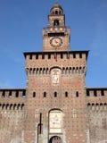 Sforzesco van Castello - Milaan Stock Fotografie