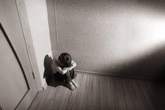 Sforzo dei bambini Fotografia Stock Libera da Diritti