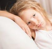 Sforzo del piccolo bambino Immagini Stock Libere da Diritti