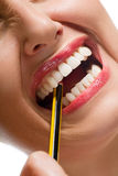 Sforzo della matita Fotografia Stock