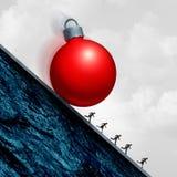 Sforzo di festa di Natale Fotografia Stock