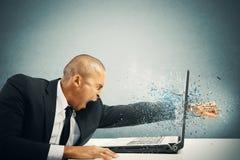 Sforzo e frustrazione Fotografie Stock Libere da Diritti