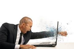 Sforzo e frustrazione Immagini Stock