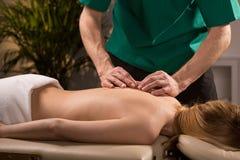 Sforzo e tensione che riducono massaggio Fotografia Stock Libera da Diritti