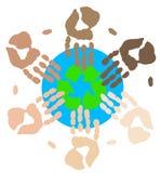 Sforzo globale per riciclare Fotografie Stock Libere da Diritti