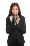 Sforzo - la donna di affari ha sollecitato Fotografie Stock Libere da Diritti