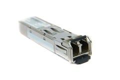 SFP-module voor netwerkschakelaar stock foto