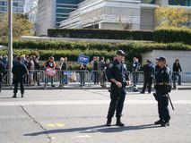 SFPD stand in street during Protest stock photo