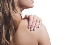 Sfregamento della spalla Immagini Stock