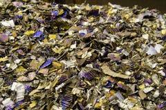 Sfrido di titanio multicolore Fotografie Stock