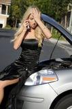 sfrustowana kierowca kobieta Zdjęcia Royalty Free