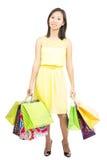 Sfrustowana zakupy dziewczyna obraz stock