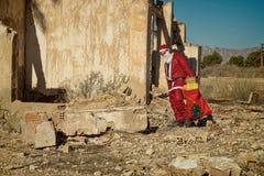 Sfrustowany Święty Mikołaj Zdjęcie Stock